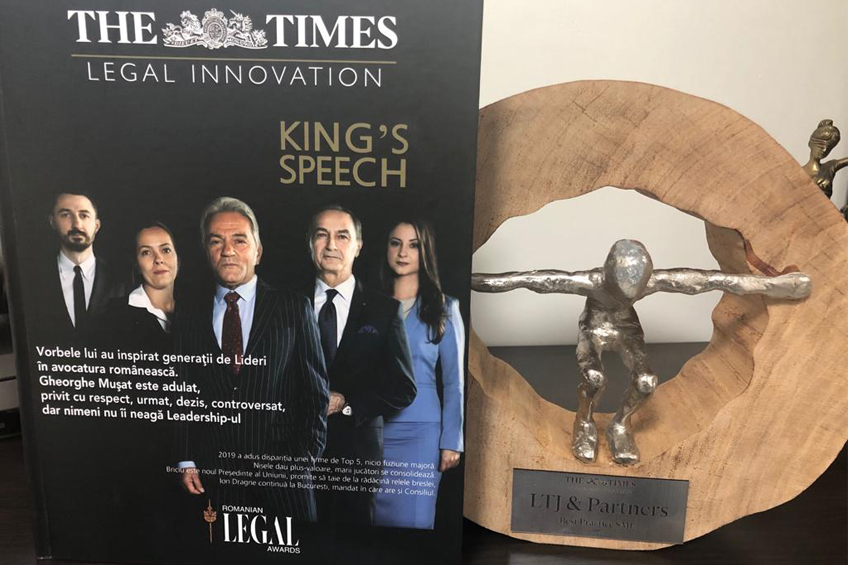 LTJ & Partners awarded by the prestigious publication THE TIMES- Legal Innovation